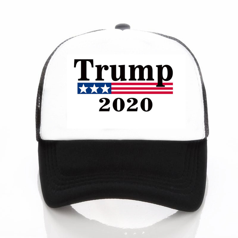 406d0576b57 Make America Great Again Caps Patchwork Donald Trump Baseball Cap  Adjustable Mesh Hat Bone Snapback Hat