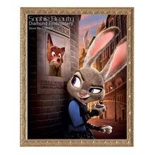 Мультяшный кролик 5d Алмазная мозаика для творчества алмазная