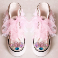 free shipping girl Canvas Shoes Pearl Lace bling bling Sports princess rhinestone Colored bling fashion crystal Children's shoes