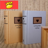 Love Diary 3 Years Love Record Diary Hard Cover DIY Planner Pocket Journal Notebook Korean