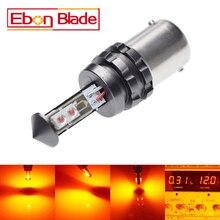 1 Pz 1156 P21W BA15S Segnale di Girata Luce Ad Alta Potenza XTE Chip 20 W Giallo Ambra Arancione Rosso LED Parcheggio Lampada Auto-Styling 12 V 24 V