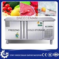 1.2 스테인레스 스틸 냉장 보관 및 냉동 기계 상업용 냉동고 카운터 캐비닛