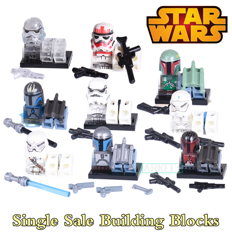 Single Star Wars Building Blocks Children Classic Models Bricks Super Heroes Avengers Red Stormtrooper White Soldier kids Toys single sale star wars classic stormtrooper with blaster gun building blocks action sets model bricks toys for children