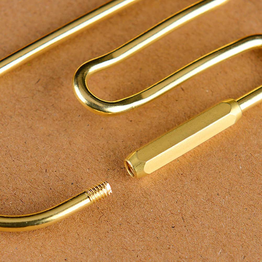 Ottone Loop Keychain Auto Golden Key Dell'organizzatore Del Supporto Portachiavi Decorazione Anello Del Cerchio Portachiavi Gancio da Cintura Del Raccoglitore di Clip