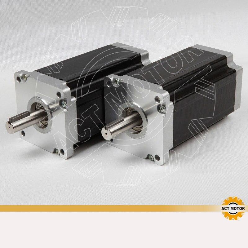 цена на Great Motor! ACT Motor 2PCS Nema42 Stepper Motor 42HS1460 150mm 6A 3256oz-in CE ROHS ISO CNC Milling Router Machine