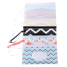 Print Baby Wet Wipes Bag Reusable Wet Wipes Cover Container For Wet Wipes Baby Skin Care Travel Wipes Bag