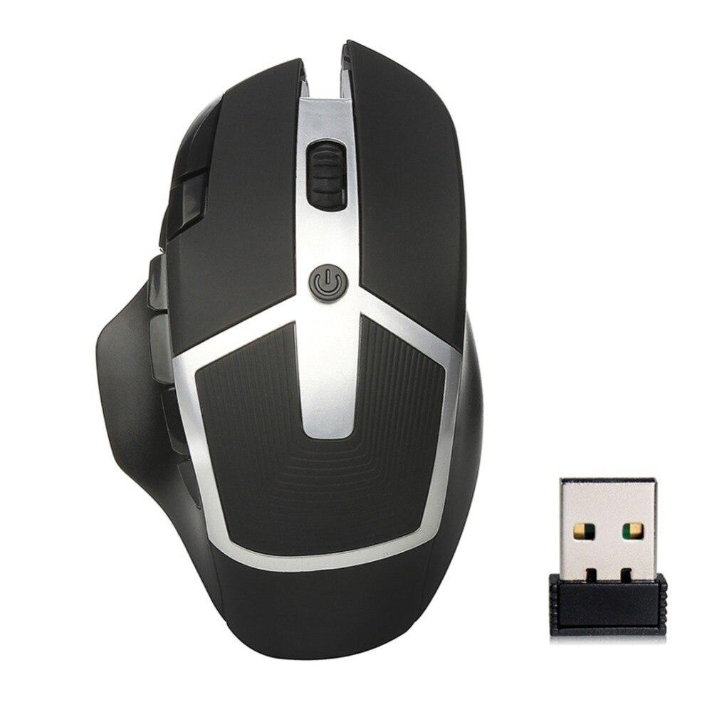 Einstellbare 2400 DPI 8 Tasten Gaming 2,4 GHz Optische Drahtlose Maus für...