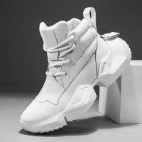 2019 men's tide shoes new high heeled Korean fashion sports casual Gao Bang plate man shoes Martins boots SIZE38 44 Yasilaiya