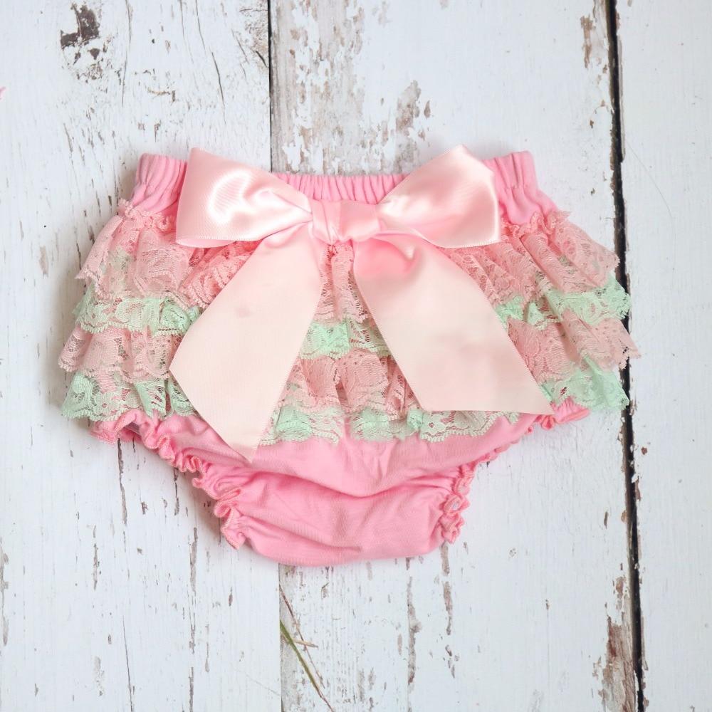 Baby short kid Algodón Ruffle Bloomers lindo Bebé Pañal Cubierta Newborn Flower Shorts Niño moda Verano Pantalones de satén con falda