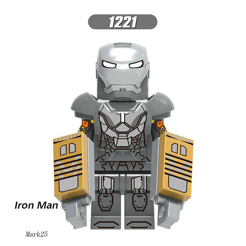 Single Sale LegoINGlys Enlighten Bricks Iron Man Tony Stark Mark 25 32 34 Figure Building Blocks Toys Brithday Gift  X0253