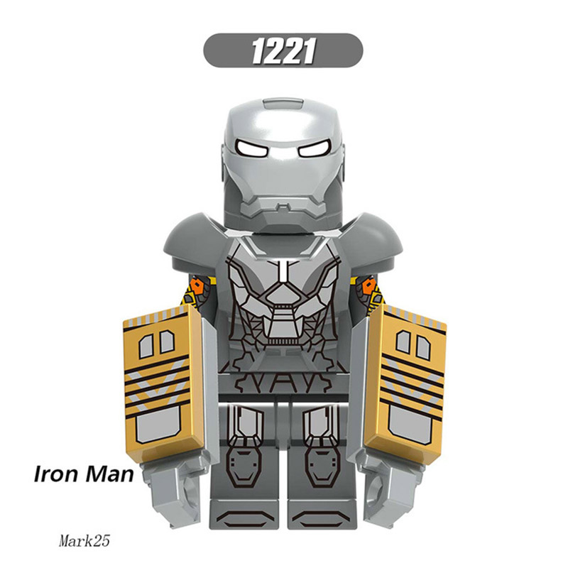 Single Sale LegoINGlys Super Heroes Bricks Iron Man Tony Stark Mark 25 32 34 Figure Building Blocks Toys Brithday Gift  X0253