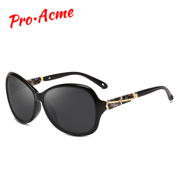 Pro Acme, gafas de sol de diseño lujoso, gafas de sol polarizadas de gran montura para mujer, gafas de sol para mujer PC1215
