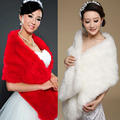 Lady Noble Long Faux Fur Wedding Bridal Exquisite Shawl Stoles Wraps Cape High Quality