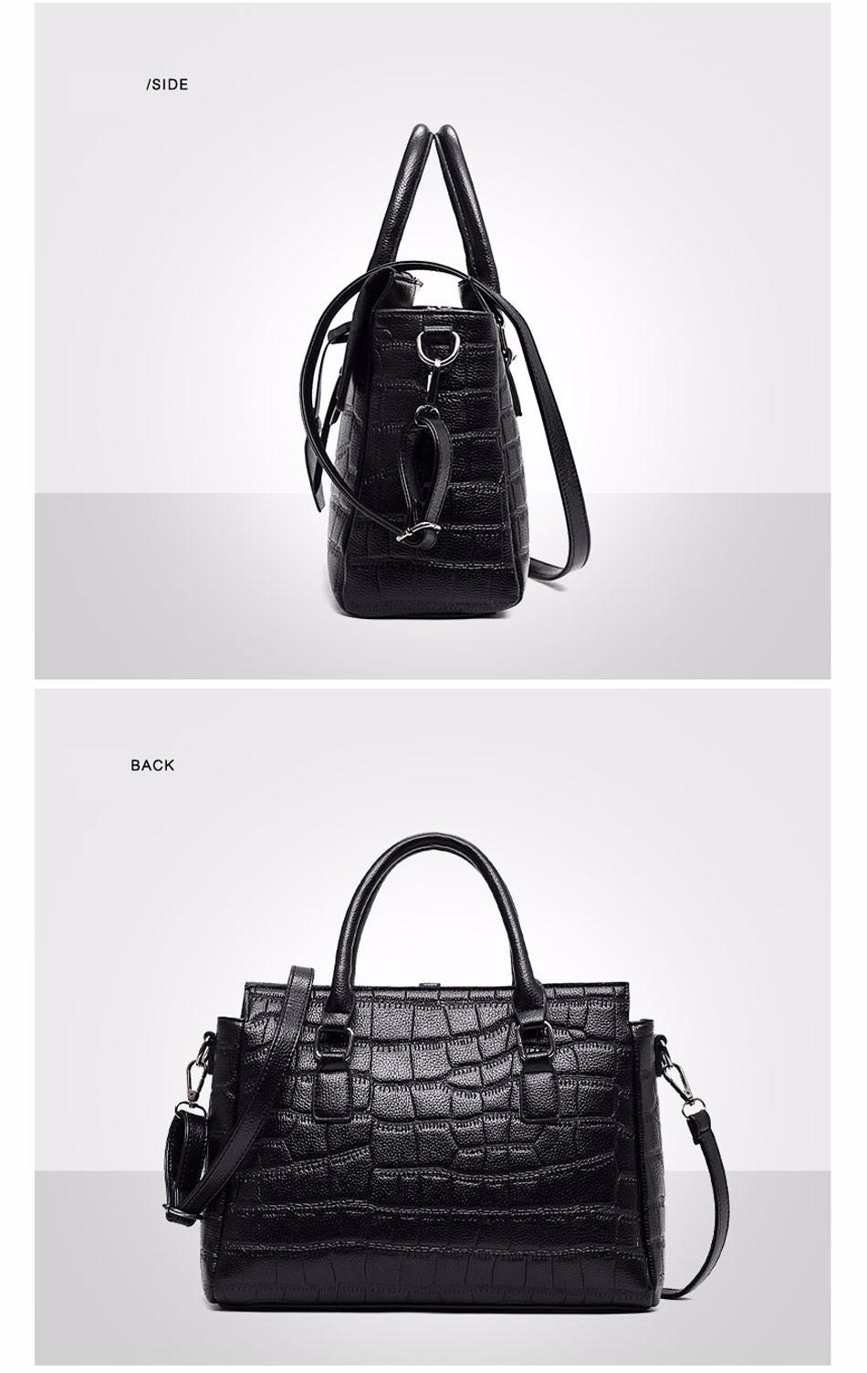 High Quality PU Leather Women's Handbags Shoulder Bag Ladies Hand Bags Stone Casual Women Bag Large Capacity Handbag 17 Sac 11