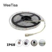 Waterproof LED Strip Light 12V 24V DC IP68 300 SMD 5050 Flexible Cool Warm White RGB 5M LED Tape Ribbon Stripe Outdoor Lighting
