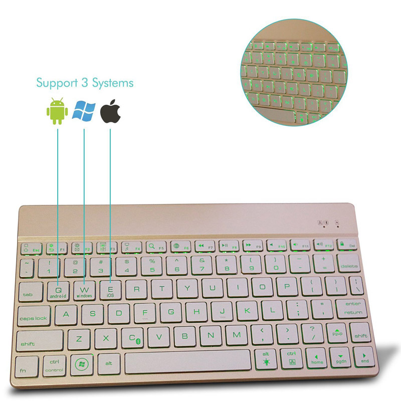 Metal Charging Slim Wireless Keyboard Aluminum Alloy Materials for Laptop PC SGA998