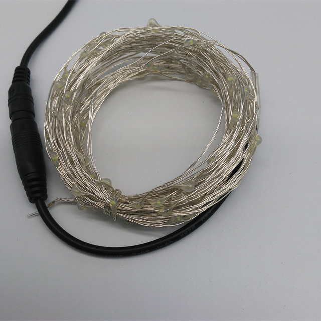 10M 100 LED Outdoor Christmas Fairy Lights Warm White Copper Wire ...