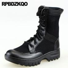 a2e972c12 Exército Rendas Até Deserto Tornozelo Botas de Combate Retro Ao Ar Livre  Plus Size Sapatos de Sola Grossa 2018 Militar Tático Ho.