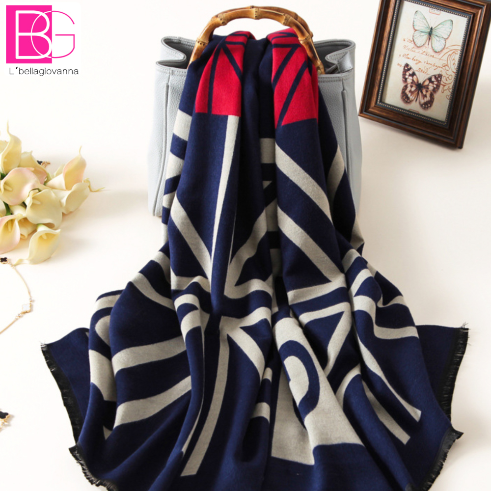 L bellagiovanna hiver thermique imitation cachemire écharpe compteurs  pallium femelle femmes wrap mode chaud foulards, de noël Femmes a7f959a12fe