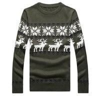 Jesień Mężczyzna Sweter Brzydkie dzieci Jeleń Boże Narodzenie Deer Mody Śnieg Wzór Patchwork Dzianiny z długim rękawem O Neck Dzianina jumper topy