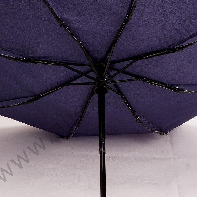 96cm 2 3persons 75T pure steel alloy auto open auto close three fold anti thunder windproof business umbrella acrylic parasol in Umbrellas from Home Garden