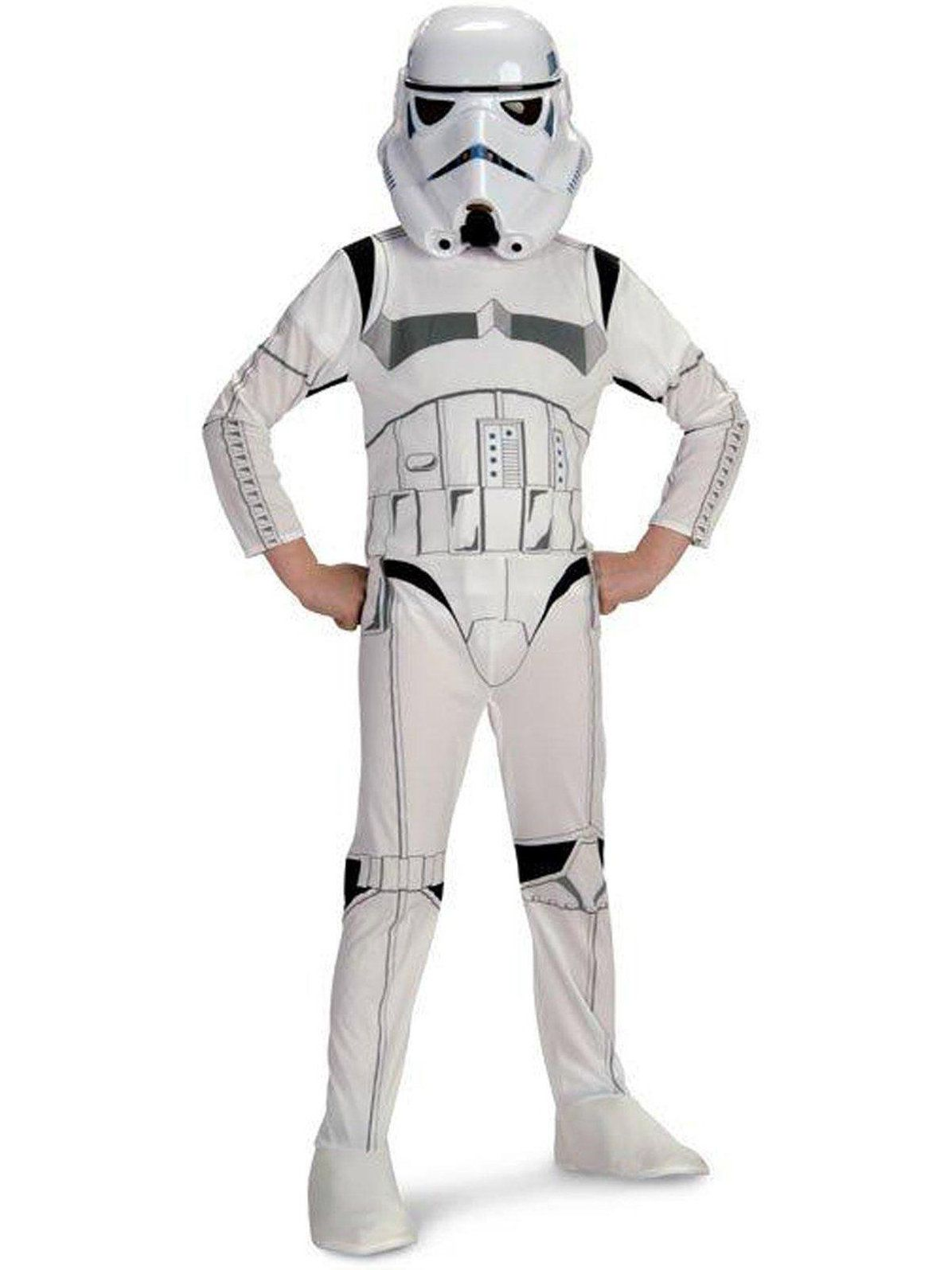Star Wars Clone Trooper White Soldiers Storm Commando Boys PU Jumpsuit Cosplay Costume