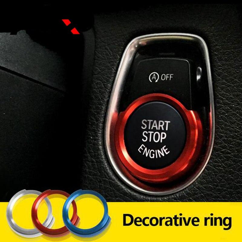 Moteur de voiture D'arrêt de Démarrage D'allumage Porte-clés Décoratif Couvre style Automobile Pour BMW 4 3 2 1 série F30 f20 F32 X1 F48 F45 Accessoires