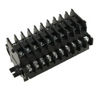 600V 10A 10 Position Double Level Screw Terminal Block Strip