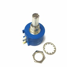 Free shipping 10pcs 3590S 2 103L Variable Resistor Potentiometer 10k ohm Rotary Wirewound Precision Potentiometer 10 Turn