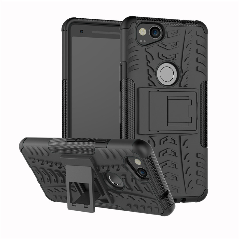 Case For Google Pixel 2 Case PC+TPU Shockproof For Google Pixel 2 XL Pixel XL Armor Case Heavy Duty Kickstand Cover