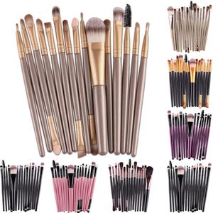 15Pcs Professional Makeup Brushes Set Eye Shadow Foundation Powder Eyeliner Eyelash Lip Make Up Brush Cosmetic Beauty Tool Kit(China)