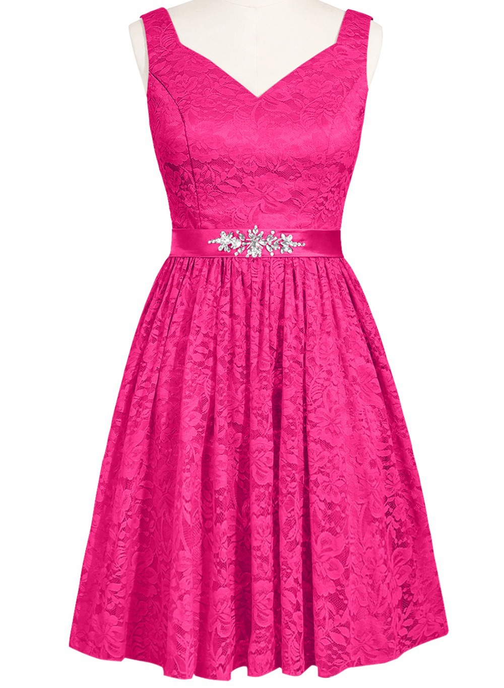 Vestido Madrinha barato corto lila / lavanda dama de honor de encaje ...
