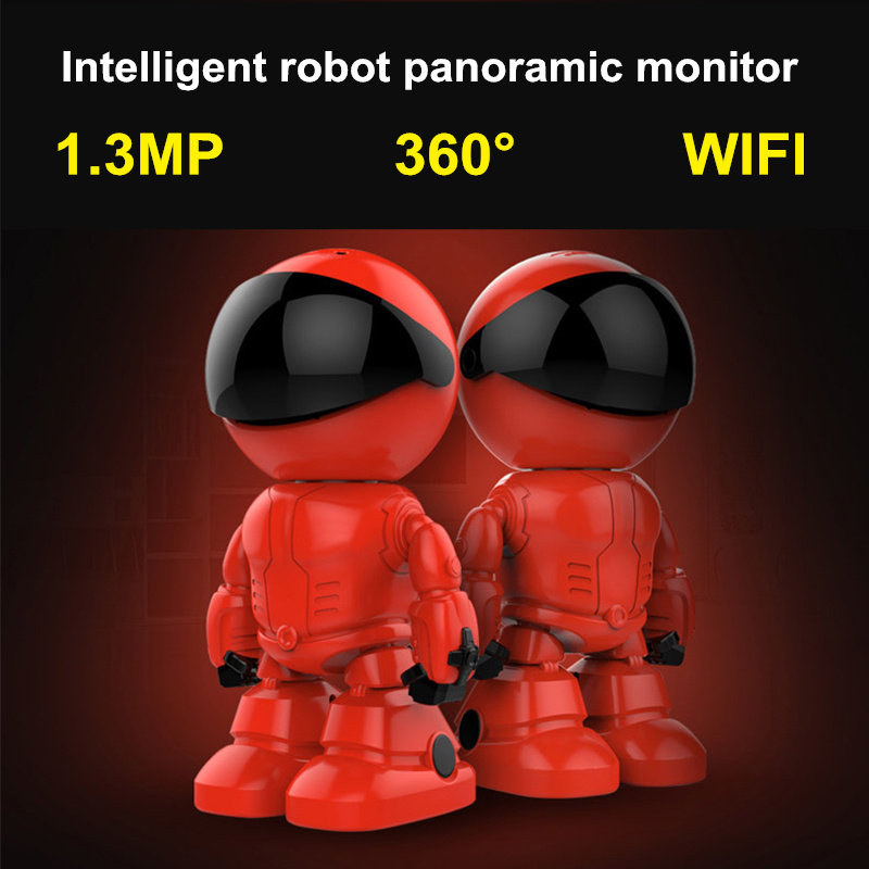 Pengbo 960P 1.3MP HD Wireless WI-FI IP Camera Robot P2P Night Vision Two way Audio Network Baby Monitor IOS Android Remote view mini wifi robot 960p ip camera wireless clock network hd baby monitor remote control home security night vision two way audio 39