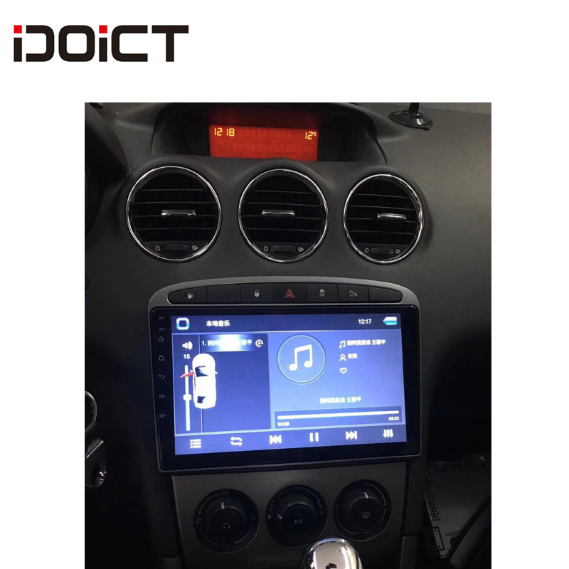 IDOICT Android 8.1 Car DVD Player GPS Navi for <font><b>Peugeot</b></font> 408 for <font><b>Peugeot</b></font> 308 <font><b>308SW</b></font> Audio <font><b>Radio</b></font> Stereo Head Unit image