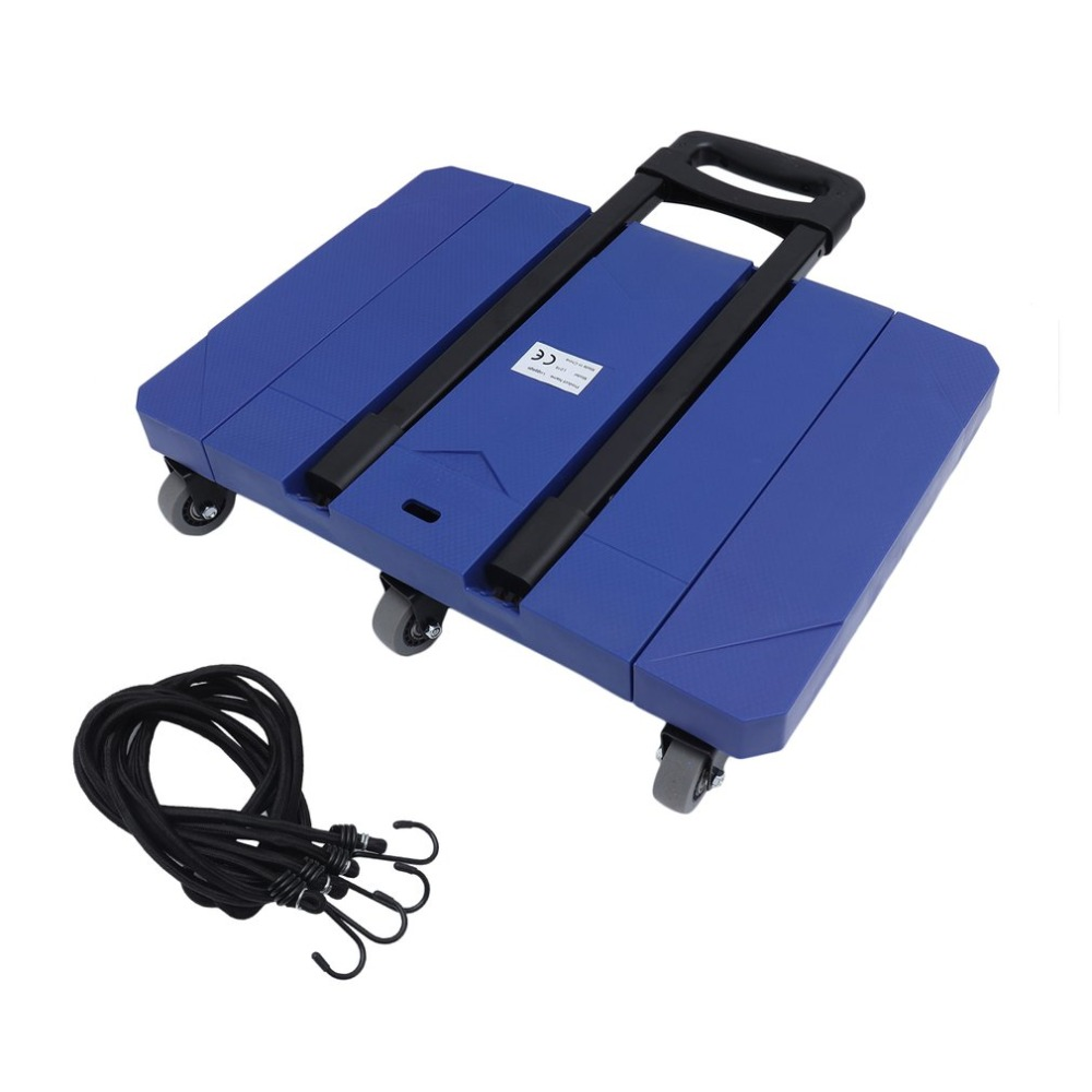 L016 150kg Load Capacity Expandable Hand Truck With 6 Wheels Folding Luggage Cart