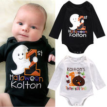 Baby Cotton Clothing Infant Baby Boy Girl Long Sleeve Bodysuit Jumpsuit Baby Halloween Thanksgiving Bodysuit Outfits Clothes