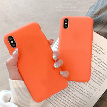 Simple Frosted Orange Case For Xiaomi Redmi A1 A2 Note 3 3s 4 4A 4X 5 Plus 5A 5X 6 6A 6X Pro Prime 7 8 Lite 9 Play MAX 2 3 Cover(China)
