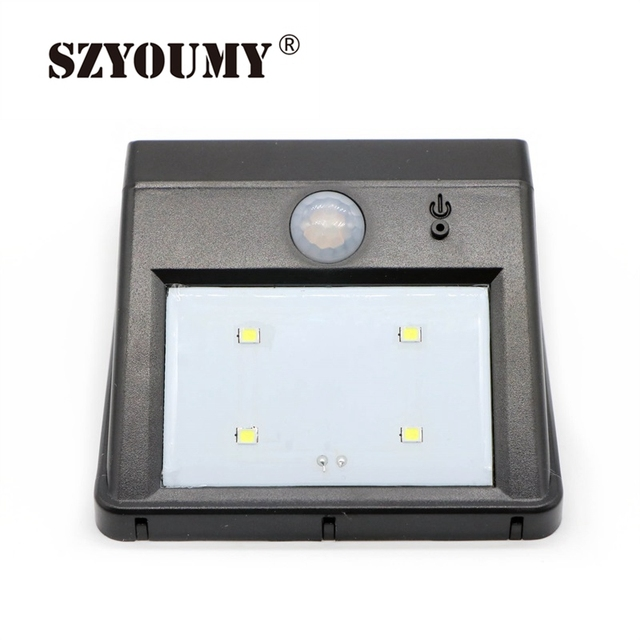Szyoumy Led Luz Solar Light Outdoor Garden Jardin Decor 4 Sensor Fence Pathway Garage Infrared Induction Lamp Solared