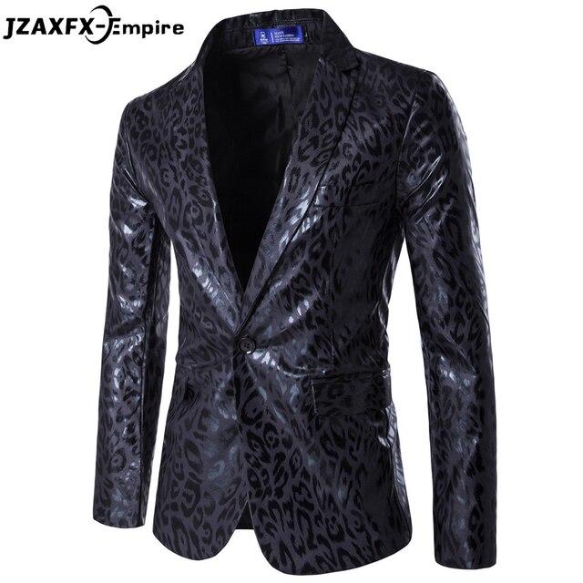 Chaqueta de los hombres Chaqueta Hombres Chaqueta de Leopardo de Calidad Superior Slim fit Vestido de Traje traje homme Hombres Blazer Diseños de Traje de Fiesta