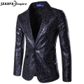 Men Blazer Jacket Men Leopard Blazer Top Quality Slim fit Dress Suit costume homme Men Blazer Designs Party Suit