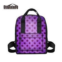 Dispalang женщин рюкзак для девочек-подростков школьная сумка Рюкзак Back Pack звезды печати рюкзак комплект для модных леди дорожная сумка