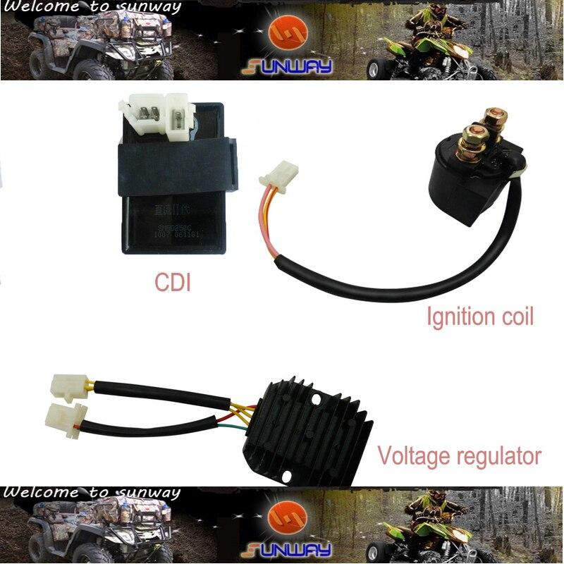 YIMATZUรถจักรยานยนต์ไฟฟ้าCDIควบคุมแรงดันไฟฟ้าสำหรับCFOMOTO CF250 CH250รถจักรยานยนต์สกูตเตอร์จัดส่งฟรี