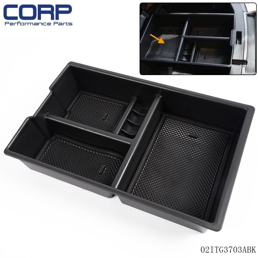 Free Shipping Car Center Console Armrest Storage Box Tray For DODGE RAM 1500 2009 - 2017 Black universal leather car armrest central store content storage box with cup holder center console armrests free shipping