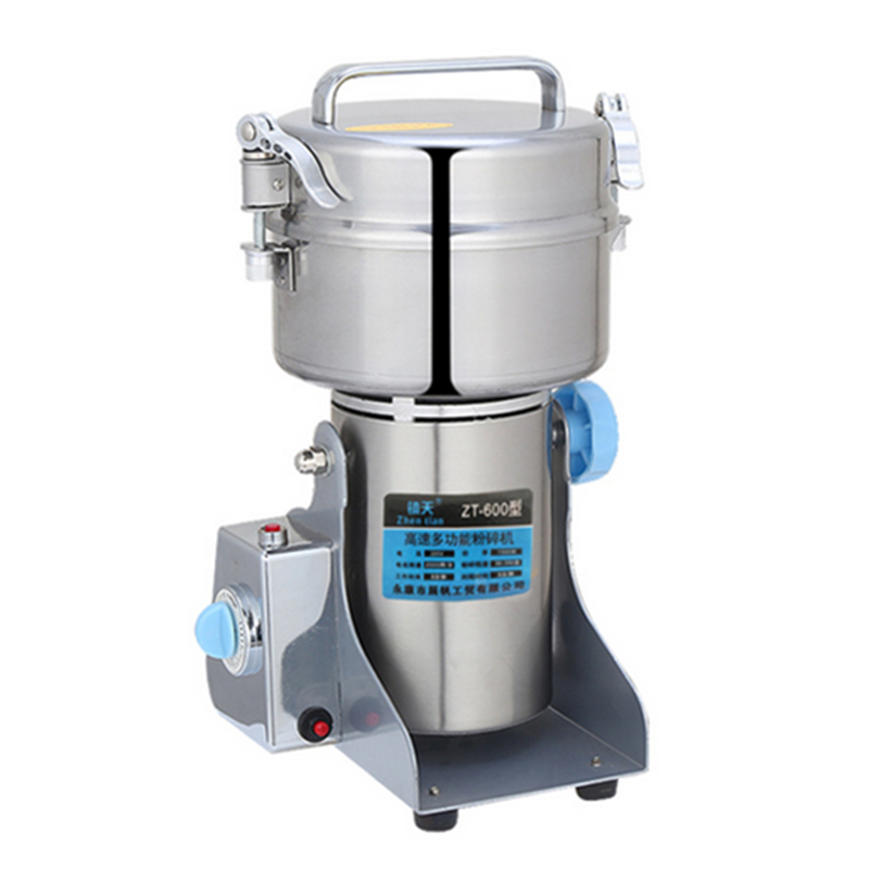 Multifunctional 600G Small Food ,Grain,Cereal,Spice Grinder .Stainless Steel Household Electric Flour Mill Powder Machine chinese supplier stainless steel 2000g 2kg household electric swing grinder mill small powder machine food grinding machine