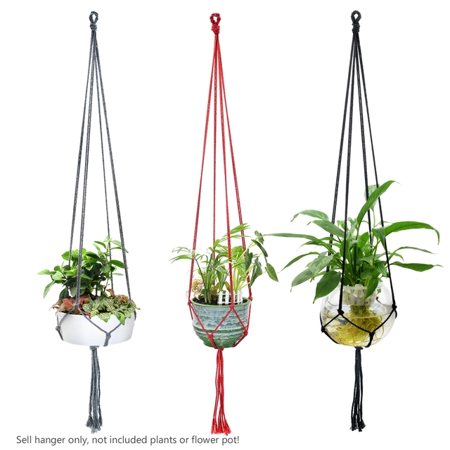 WITUSE Plant Pot Hanger Rural Style Colorful Cotton Threads For Ceiling Hanging Lifting Rope 90cm Balcony Garden Home Decoration  sc 1 th 225 & Aliexpress.com : Buy WITUSE Plant Pot Hanger Rural Style Colorful ...