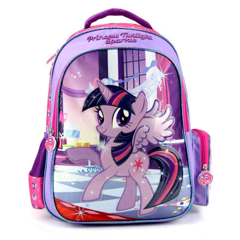 New font b Kids b font Lovely Cartoon Schoolbag My Little Pony Girls font b Backpack