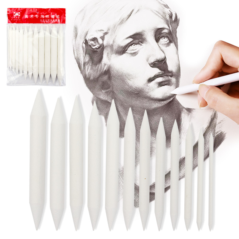 3/6/8/12 Pcs Double Head Durable Art Drawing Tool Pastel New Blending Smudge Tortillon Material Escolar Sketching Paper Pencil