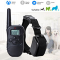 300M Dog Collar Electric Remote LCD 100LV Shock Vibrate Pet Training Trainer Collar For 1 2 Dog Free Shipping