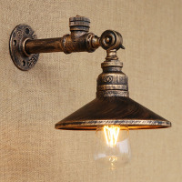 Loft 4 Color Steam Punk Iron Rust Water Pipe Retro Wall Lamp Vintage E27 Sconce Lights