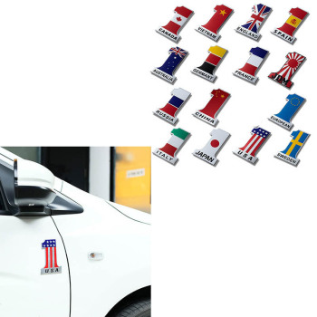 3D Metal Car Styling Car Body Sticker Flag For Fiat 500 Abarth Mercedes W176 W204 W210 W203 CLA E BMW E60 E36 E34 E90 F30 F10 m3 image